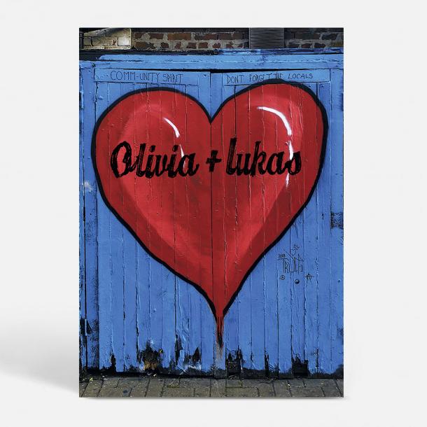 Skræddersyet kærlighedsplakat i A2 (design 04 monteret i ...