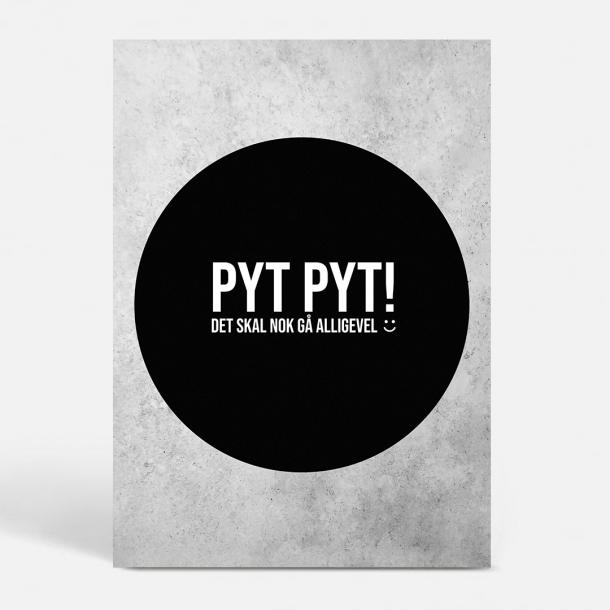 Pytplakaten - Sort - Sjove plakater